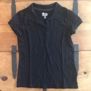 Old Navy Girls Size Large (10-12) Black Polo Shirt